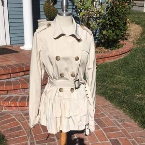Forever 21 cream trench coat size L